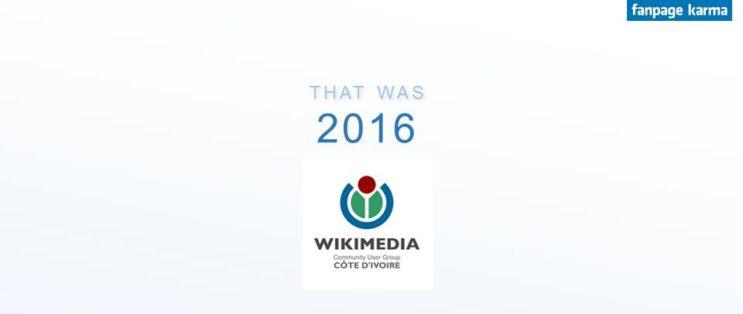 Wikimedia Côte d'Ivoire sur Facebook en 2016